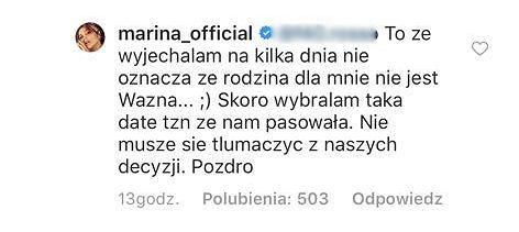 Marina Łuczenko odpowiada fance