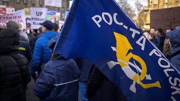 Protest listonoszy w Katowicach, marzec 2017 r.