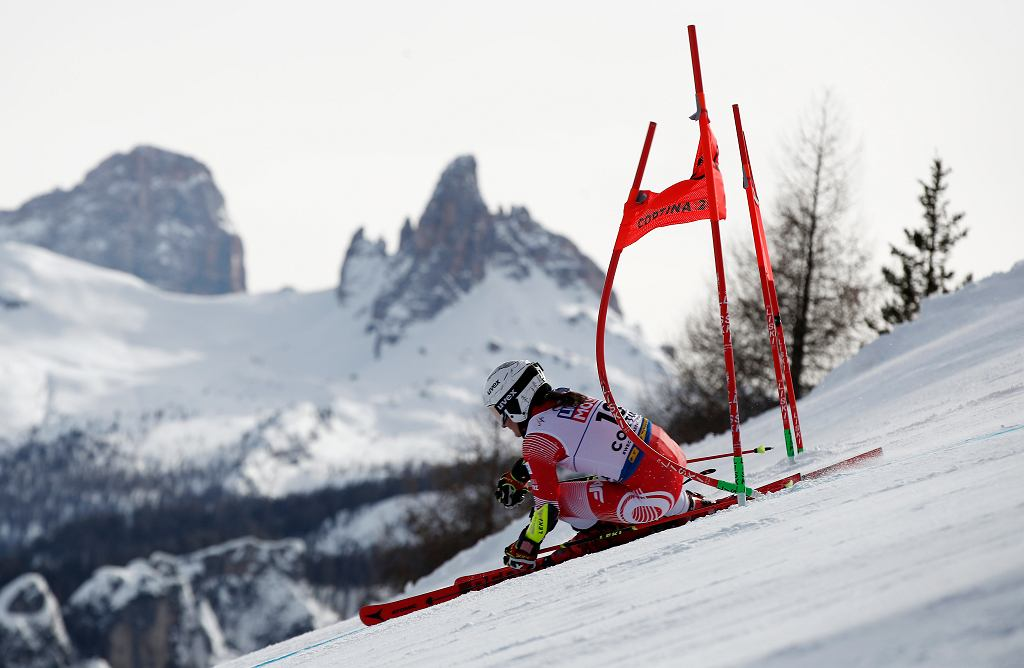 Maryna Gąsienica-Daniel na trasie giganta mistrzostw świata w Cortinie d'Ampezzo