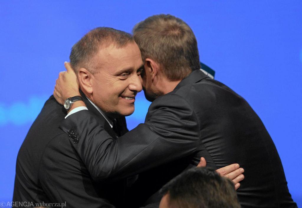 Grzegorz Schetyna i Donald Tusk (fot. Wojciech Olkuśnik/AG)