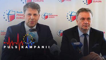 Prezesi Ruchu Prawdziwa Europa - Europa Christi i Prawicy RP -  Mirosław Piotrowski i  Krzysztof Kawęcki