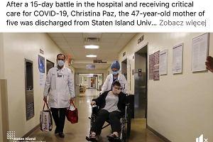 Mama pięciorga dzieci wygrała z koronawirusem. Pracownicy szpitala przygotowali jej niespodziankę. Nie kryła łez