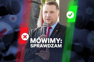 """[Mówimy: Sprawdzam] Minister Czarnek twierdzi, że """"dzieci nie są wybitnymi transmiterami"""". Eksperci wybitnie sceptyczni"""
