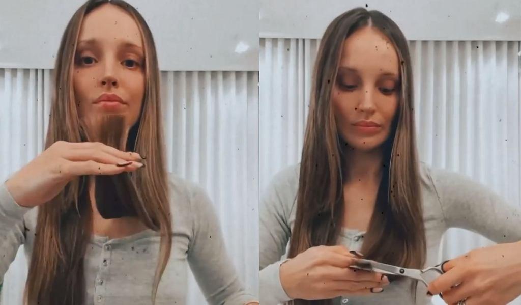 Marina Łuczenko-Szczęsna obcięła włosy na oczach fanów. 'Nie ufam fryzjerom'. Efekt?