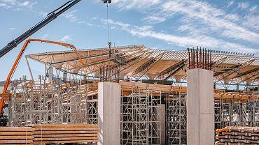 Stadion ŁKS-u jest rozbudowywany.