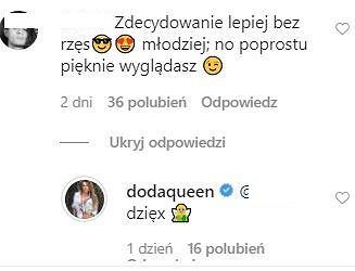 Komentarze z Instagrama Dody