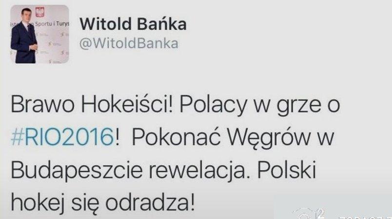 Witold Bańka na Twitterze