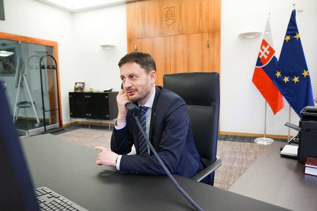 Premier Słowacji Eduard Heger