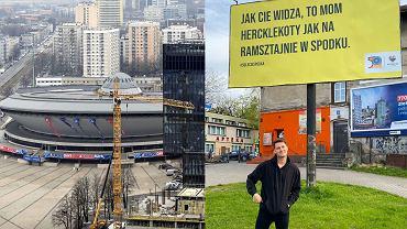 Spodek i billboardy Roobens / Rubens był z Bytomia