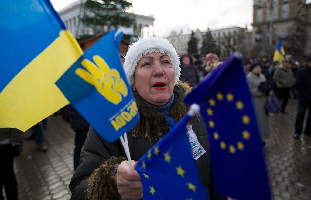 Trzeci dzień protestu na Euromajdanie w Kijowie