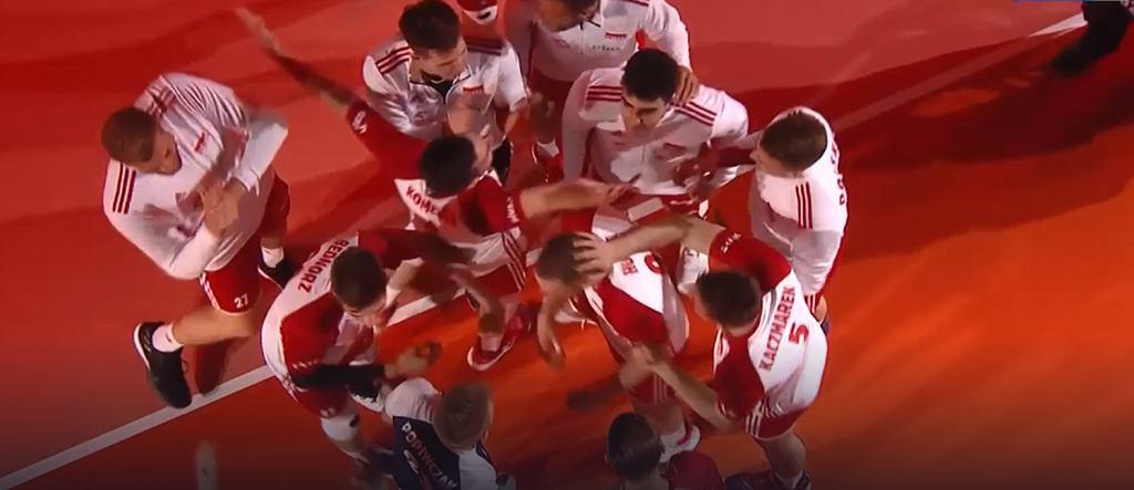Siatkarze reprezentacji Polski świętują pokonanie Iranu w Final Six Ligi Narodów