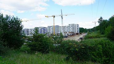 Budowa na osiedlu Nagórki w Olsztynie