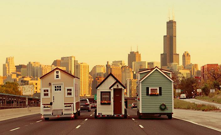 Domki tiny houses w drodze do Chicago