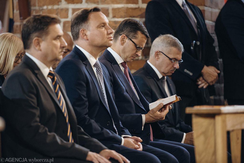 Wybory prezydenckie 2020. Prezydent Andrzej Duda może liczyć na wsparcie Episkopatu. Na zdjęciu: podczas mszy w Gdańsku w sierpniu 2018 r.