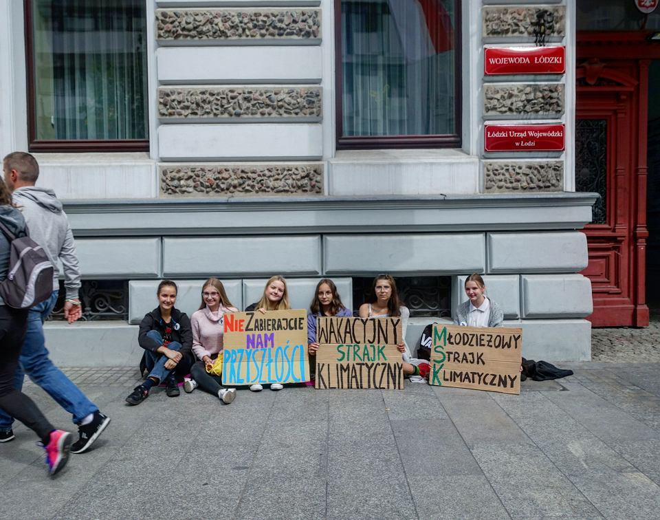 Wakacyjny Strajk Klimatyczny na Piotrkowskiej