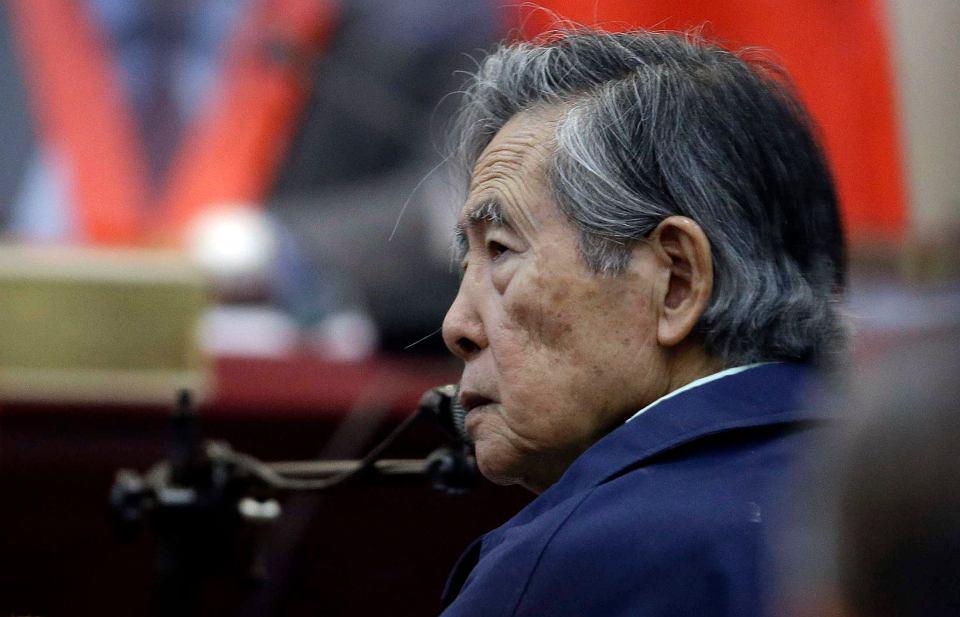 Były prezydent Peru Alberto Fujimori podczas procesu. Callao, 15 marca 2018 r.