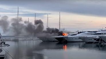 Pożar w chorwackiej marinie