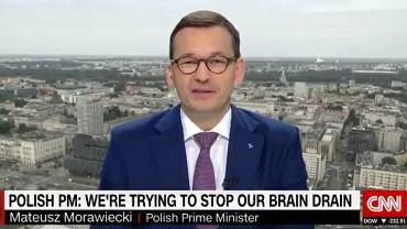 Mateusz Morawiecki był gościem CNN
