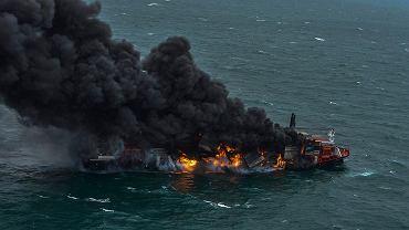 Płonący statek MS X-Press Pearl u wybrzeży Sri Lanki