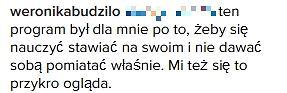Komentarz Weroniki Budziło