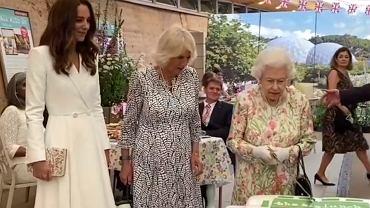 'Tak będzie oryginalniej'. Nagranie królowej Elżbiety krojącej tort mieczem podbija Internet