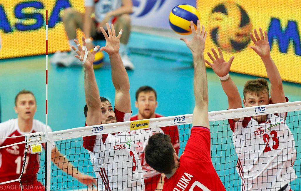 Polska - Rosja (0:3) w katowickim Spodku.