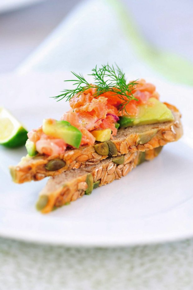 Salmon Tartare Snack