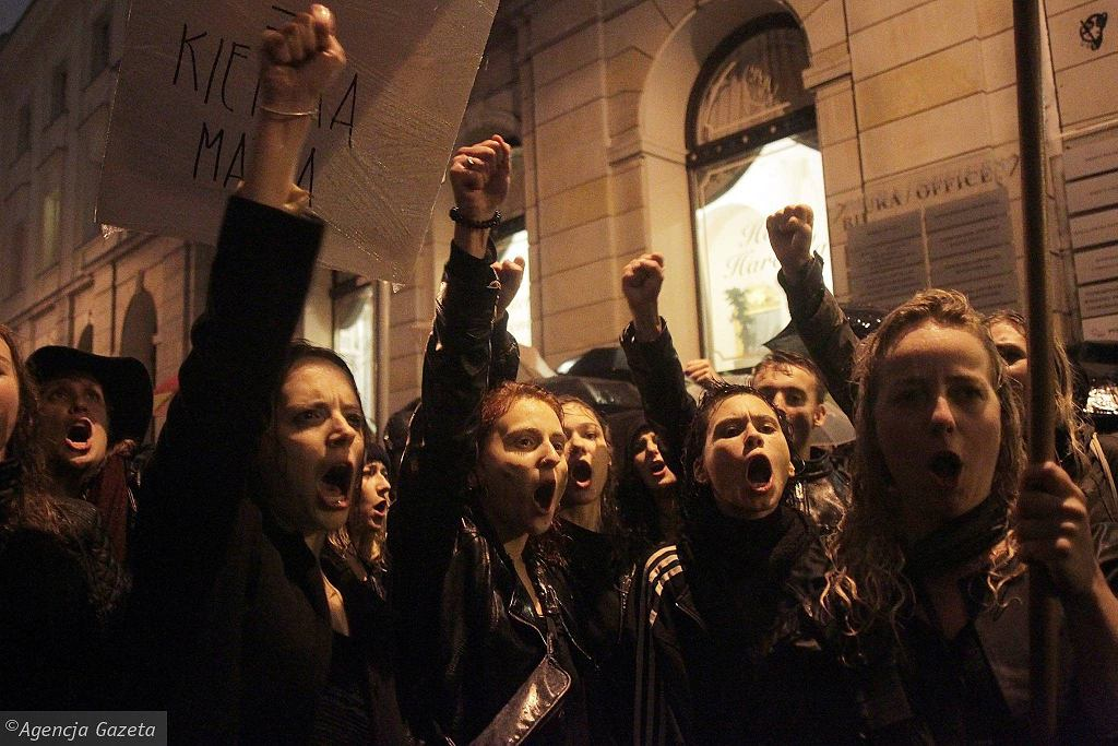 Strajk kobiet, 3 października, Warszawa