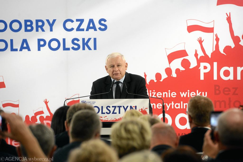 Jarosław Kaczyński na Konwencji Prawa i Sprawiedliwości w Olsztynie