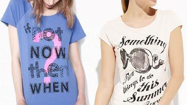 Wakacyjne T-shirty za mniej niż 50 zł