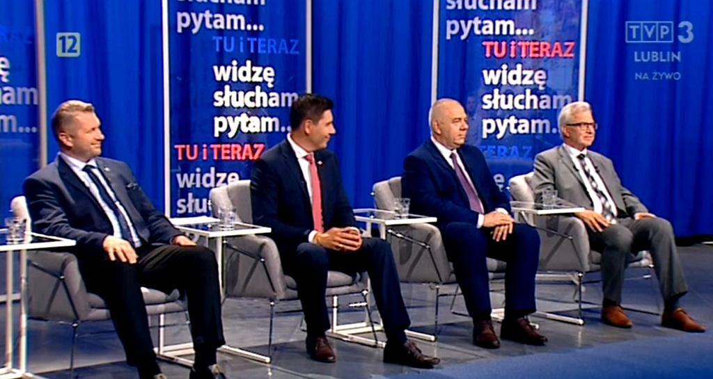 Kadr z programu 'Tu i teraz - widzę, słucham, pytam' w TVP3 Lublin