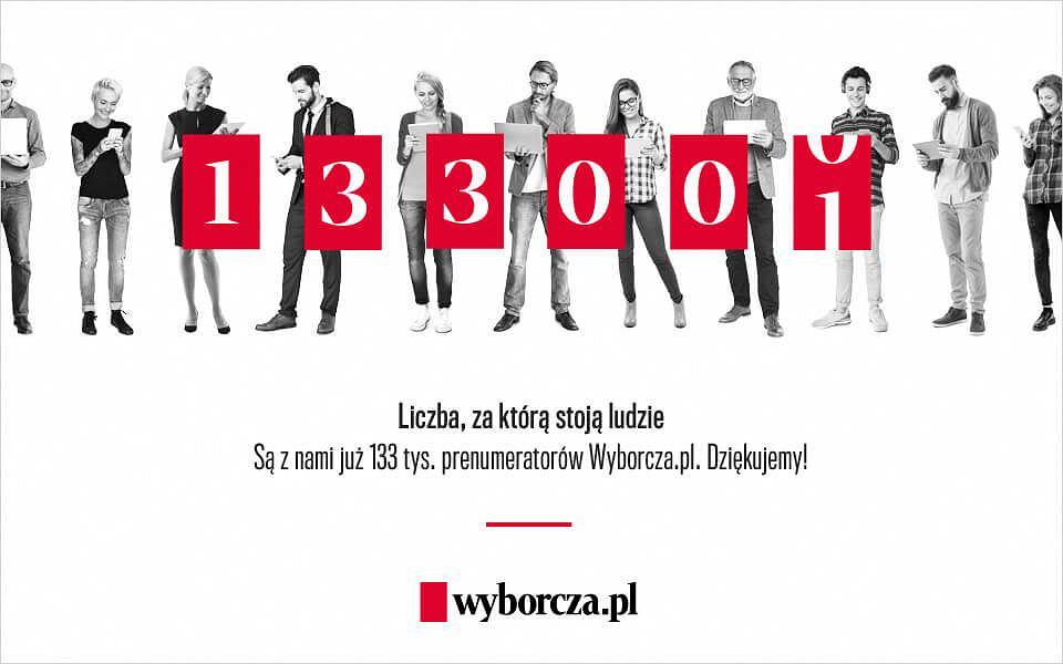 Gazeta Wyborcza ma już 133 tysiące cyfrowych prenumeratorów