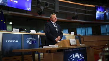 1.10.2019, Bruksela, Janusz Wojciechowski przed przesłuchaniem przez komisję w Parlamencie Europejskim.