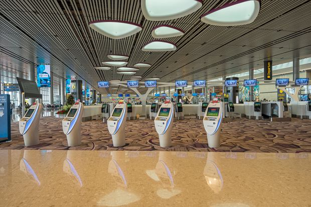 Stanowiska odprawy na lotnisku Singapur-Changi