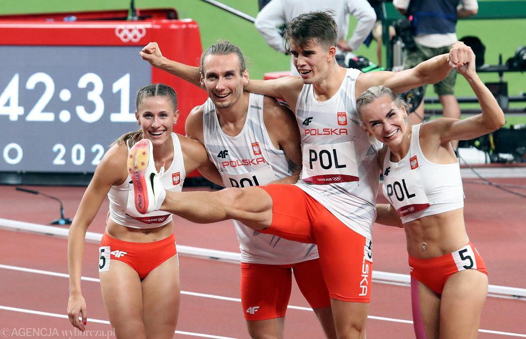 Tokio 2020. Polska sztafeta mieszana 4x400 po złotym biegu na igrzyskach