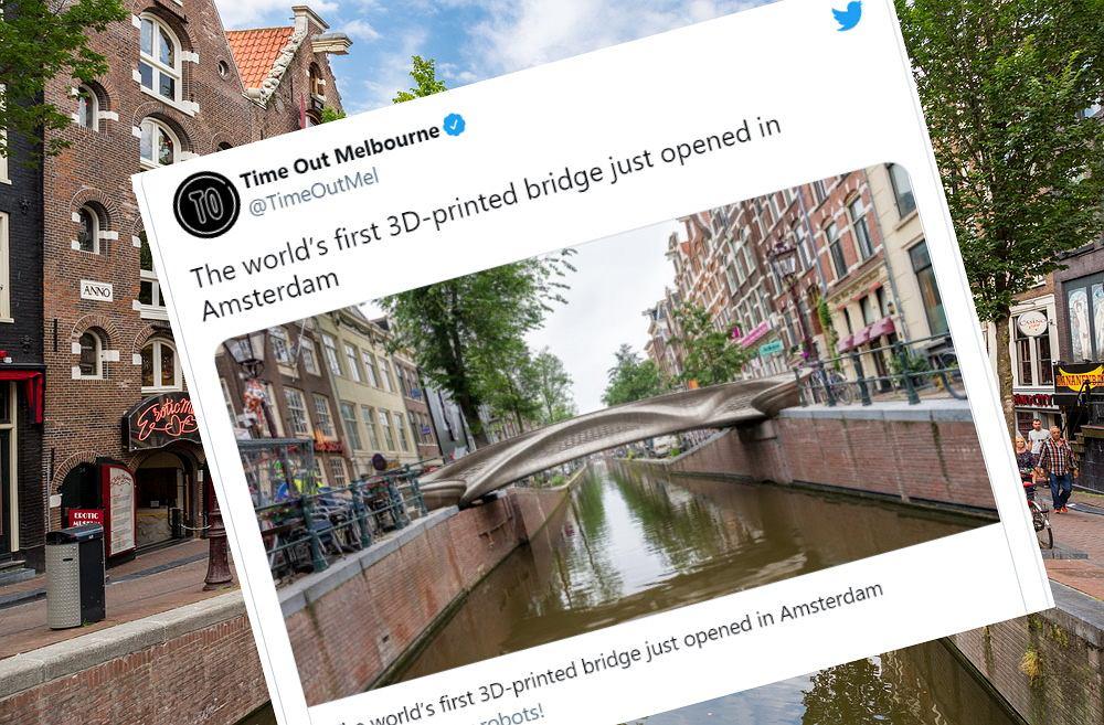 W Holandii otwarto do użytku pierwszy most na świecie wydrukowany w technologii 3D