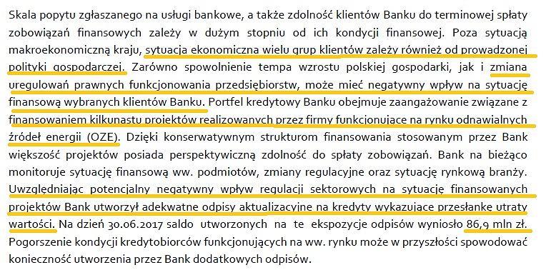 Alior Bank o odpisach na OZE