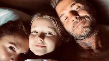 David Beckham z rodziną