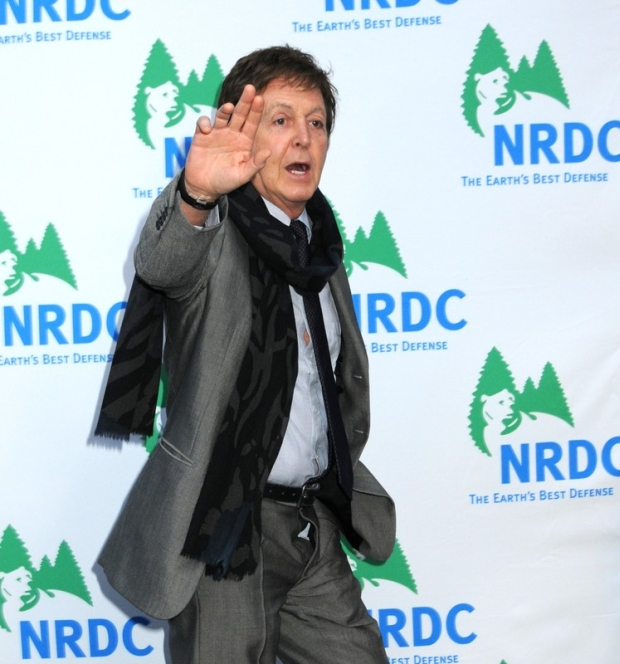 "Sir Paul McCartney seen dashing on to the red carpet at the National Research Defense Council ""Forces For Nature"" Benefit where Stella McCartney was being honored. Sir Paul seemed to be in such a rush that he forgot to zip his fly!  Pictured: Paul McCartney   Ref: SPL90239  300309   Picture by: TD / Splash News"
