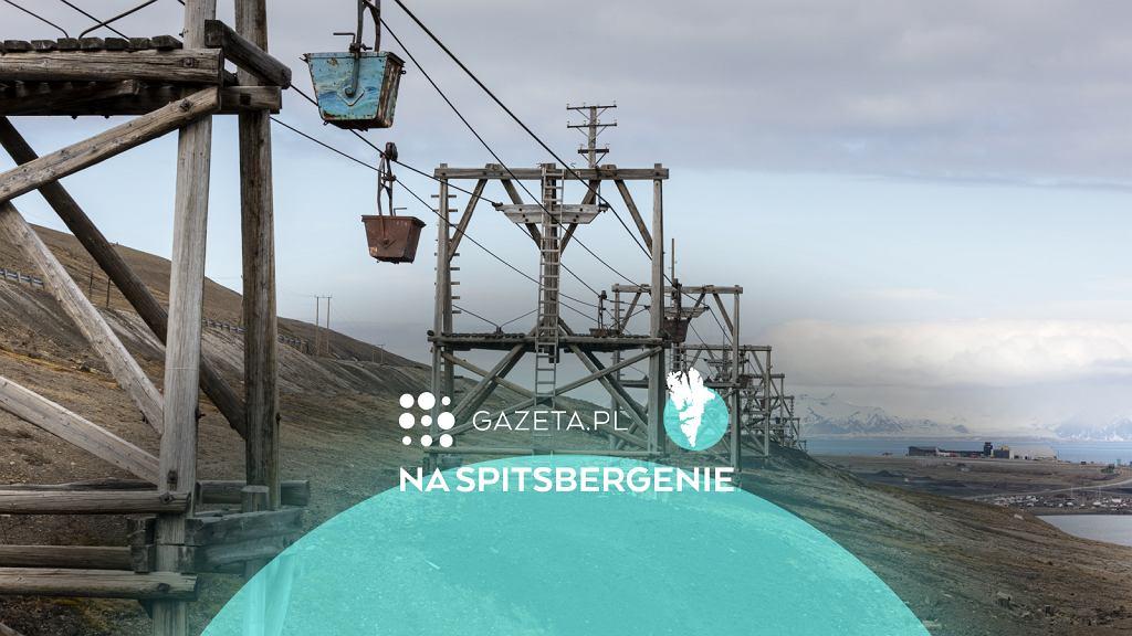 Pozostałości po nieczynnej kopalni w Longyearbyen, Spitsbergen, archipelag Svalbard.