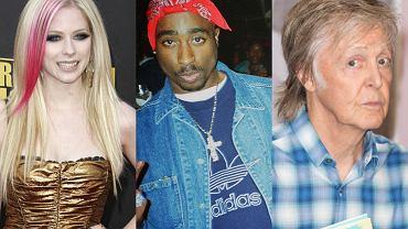 Avril Lavigne, Tupac Shakur, Paul McCartney
