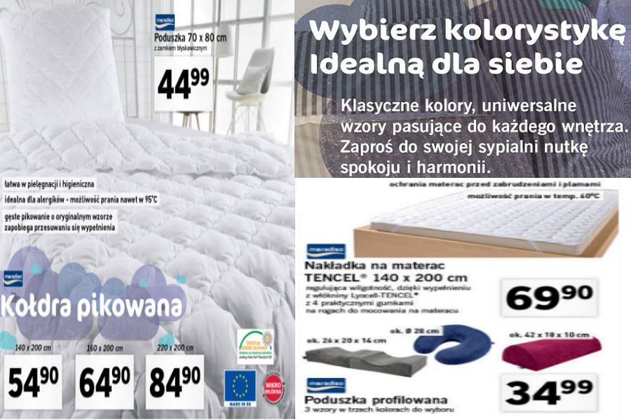 Kołdry, poduszki i nakładki na materac