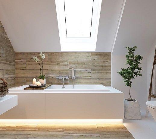 Sztuczna roślina, jako dekoracja w łazience