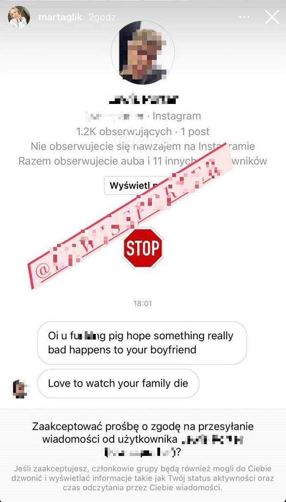 """Żona Kamila Glika dostaje wstrząsające groźby. """"Chce patrzeć, jak twoja  rodzina umiera"""" Reprezentacja Polski"""