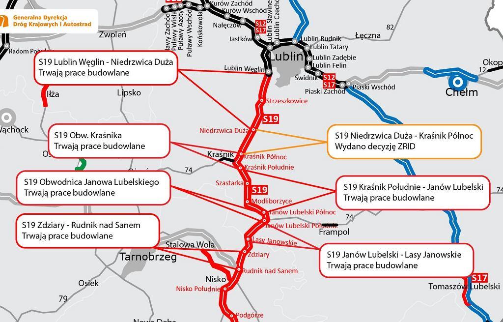 Trasa S19 Niedrzwica Duża - Kraśnik