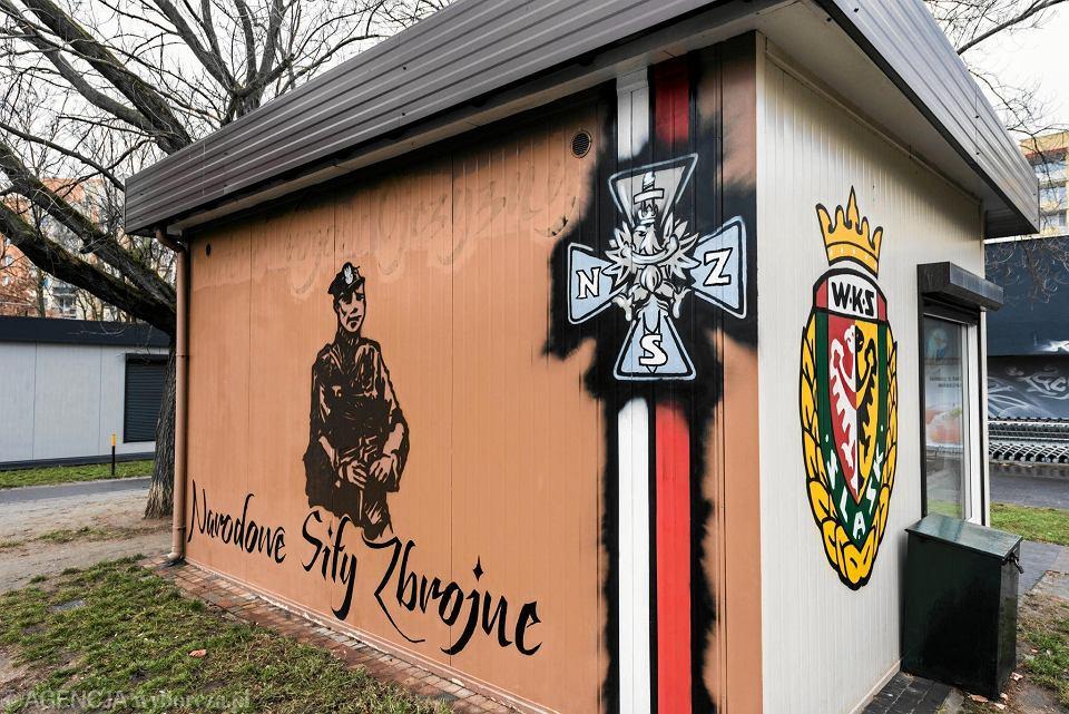 Z muralu przy ul. Budziszyńskiej we Wrocławiu zniknął napis 'Śmierć wrogom ojczyzny'