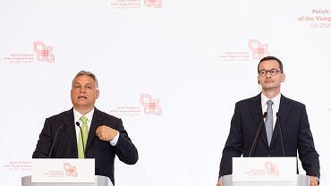 Premierzy Węgier i Polski Viktor Orban i Mateusz Morawiecki, 3 lipca 2020 r.