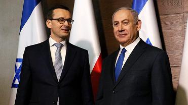 Premier Mateusz Morawiecki i premier Izraela Beniamin Netanjahu podczas konferencji bliskowschodniej w Warszawie, 14 lutego 2019.