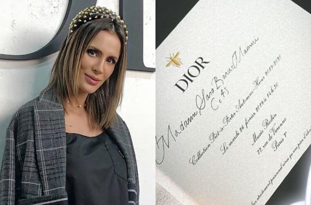 Sara Boruc na pokazie Diora