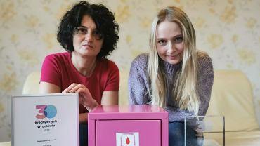 Bożena Powaga i Adrianna Klimaszewska, inicjatorki akcji 'Różowa skrzyneczka'